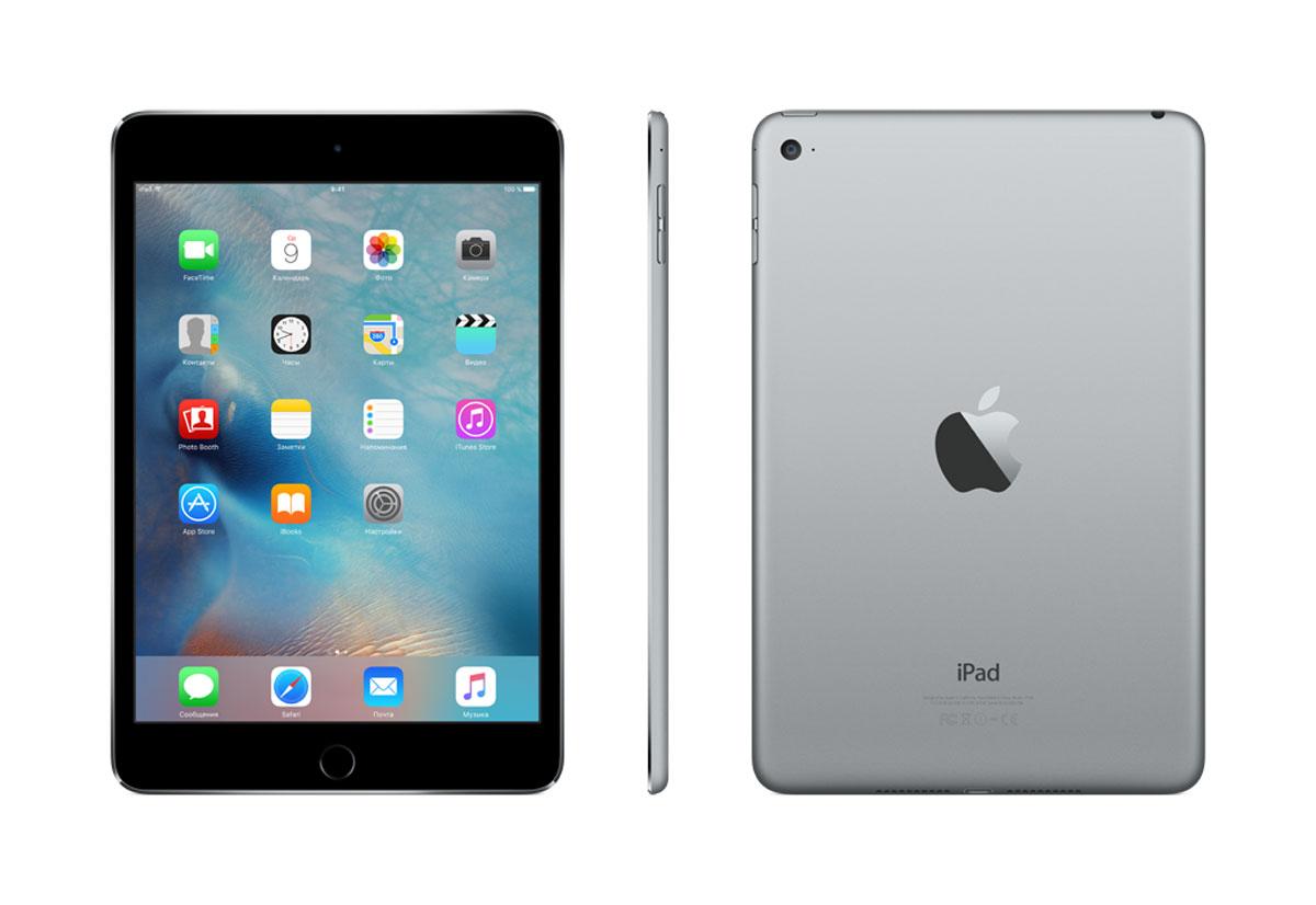 Apple iPad mini 4 Wi-Fi 128GB, Space Gray ( MK9N2RU/A )