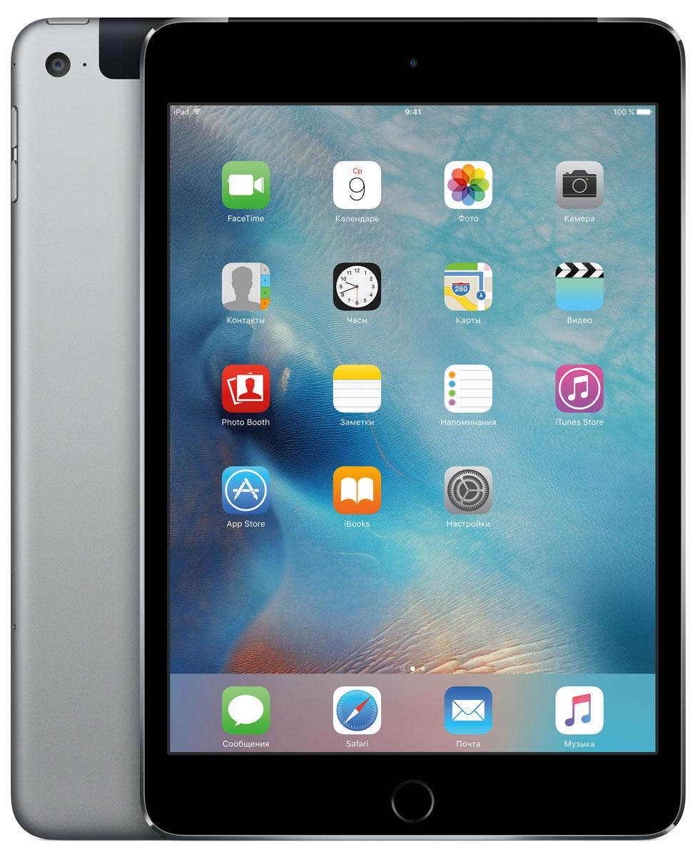 Apple iPad mini 4 Wi-Fi Cellular 128GB, Space Gray ( MK762RU/A )