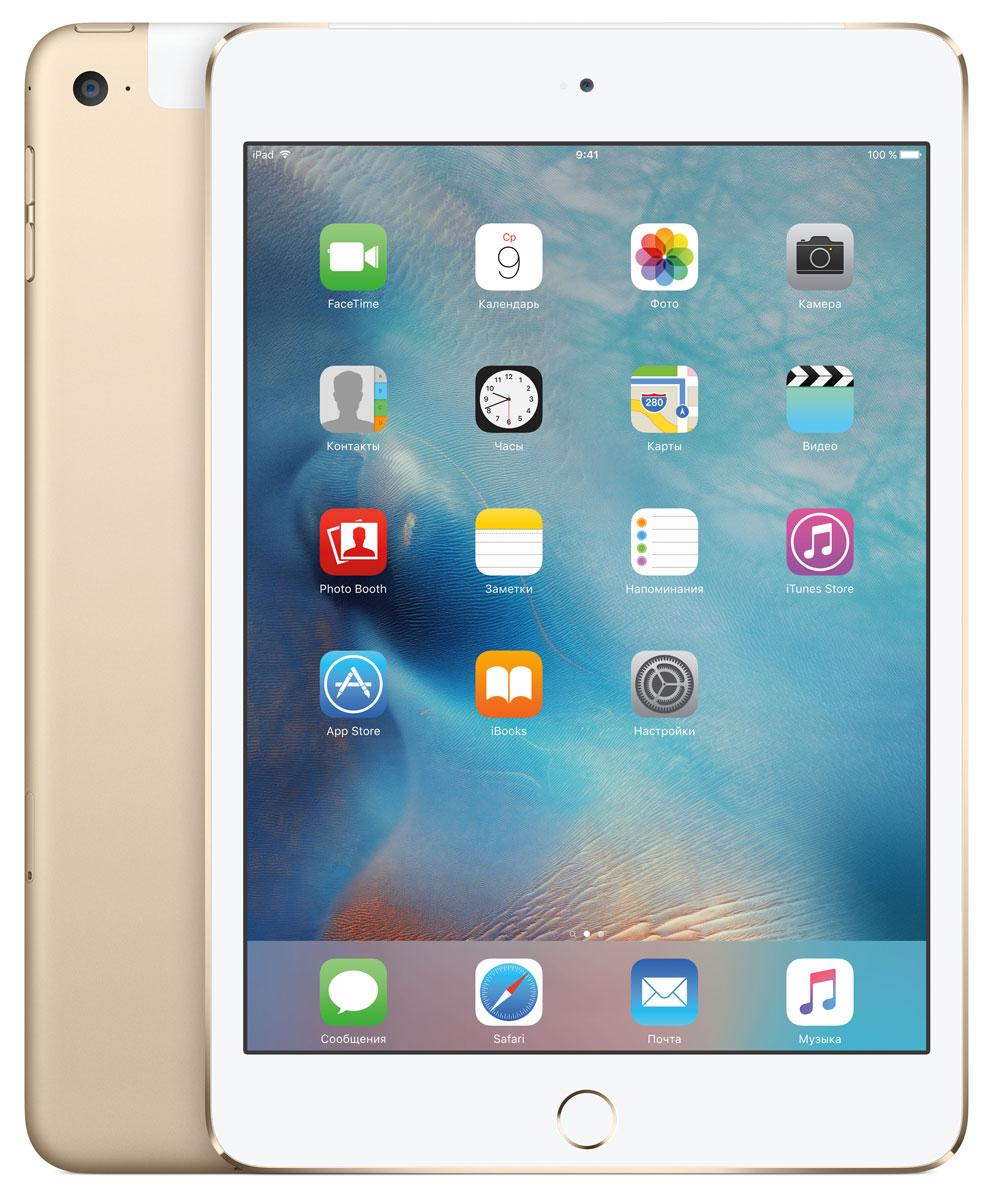 Apple iPad mini 4 Wi-Fi Cellular 128GB, Gold ( MK782RU/A )