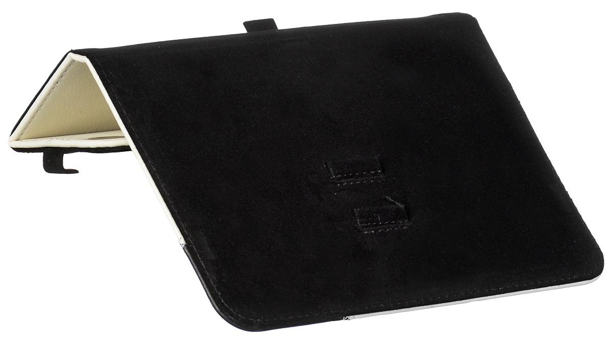 Vivacase Fantasy кожаный чехол-обложка для iPad Mini, White Black (VAP-AMF002-Wh-Bl)