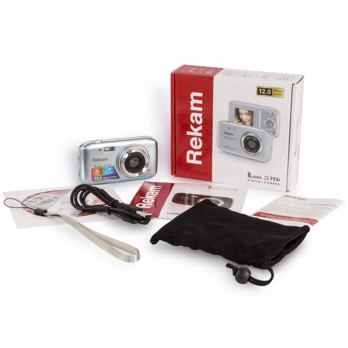 Rekam iLook S755i, Grey Silver цифровая фотокамера