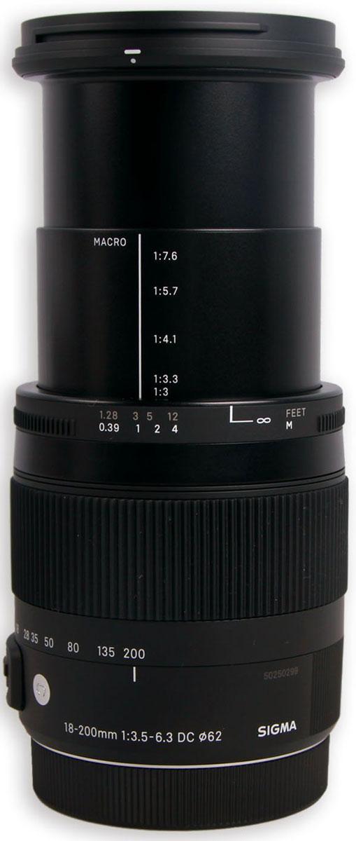 Sigma AF 18-200mm F/3.5-6.3 DC MACRO OS HSM/C, Black объектив для Canon