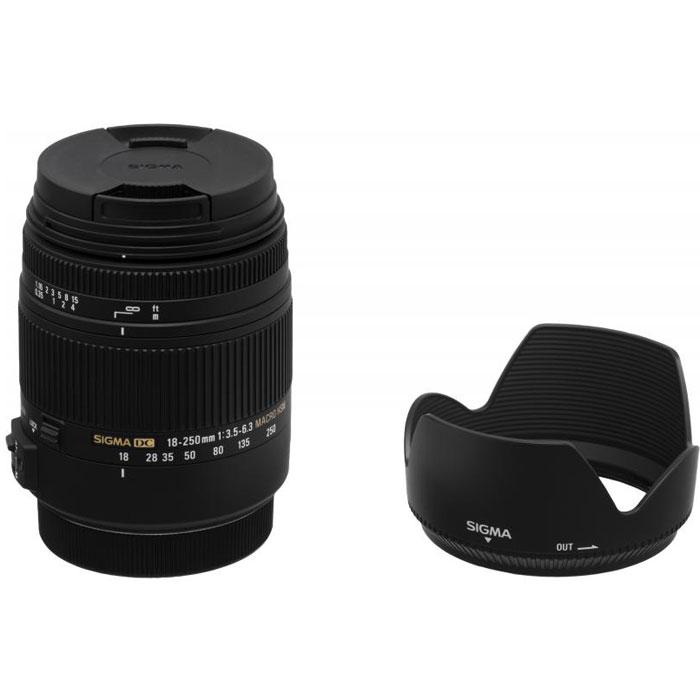 Sigma AF 18-250mm F3.5-6.3 DC MACRO OS HSM, Black объектив для Canon