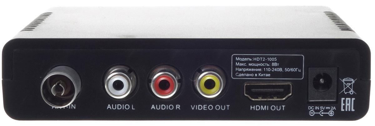 Harper HDT2-1005 телевизионный ресивер DVB-T2, Black