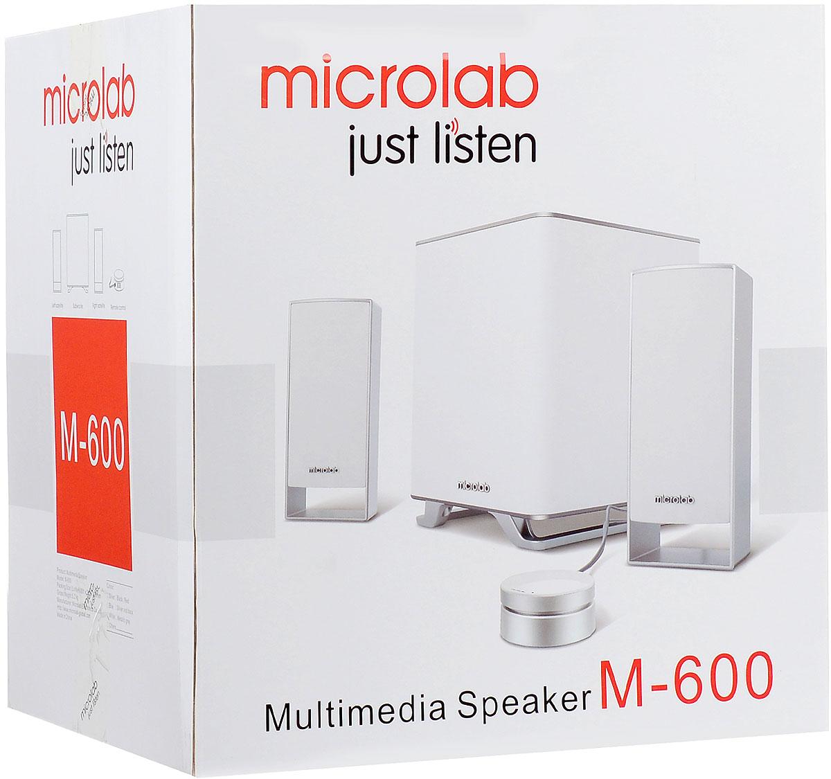Microlab M-600 2.1, White акустическая система ( M-600 2.1 )
