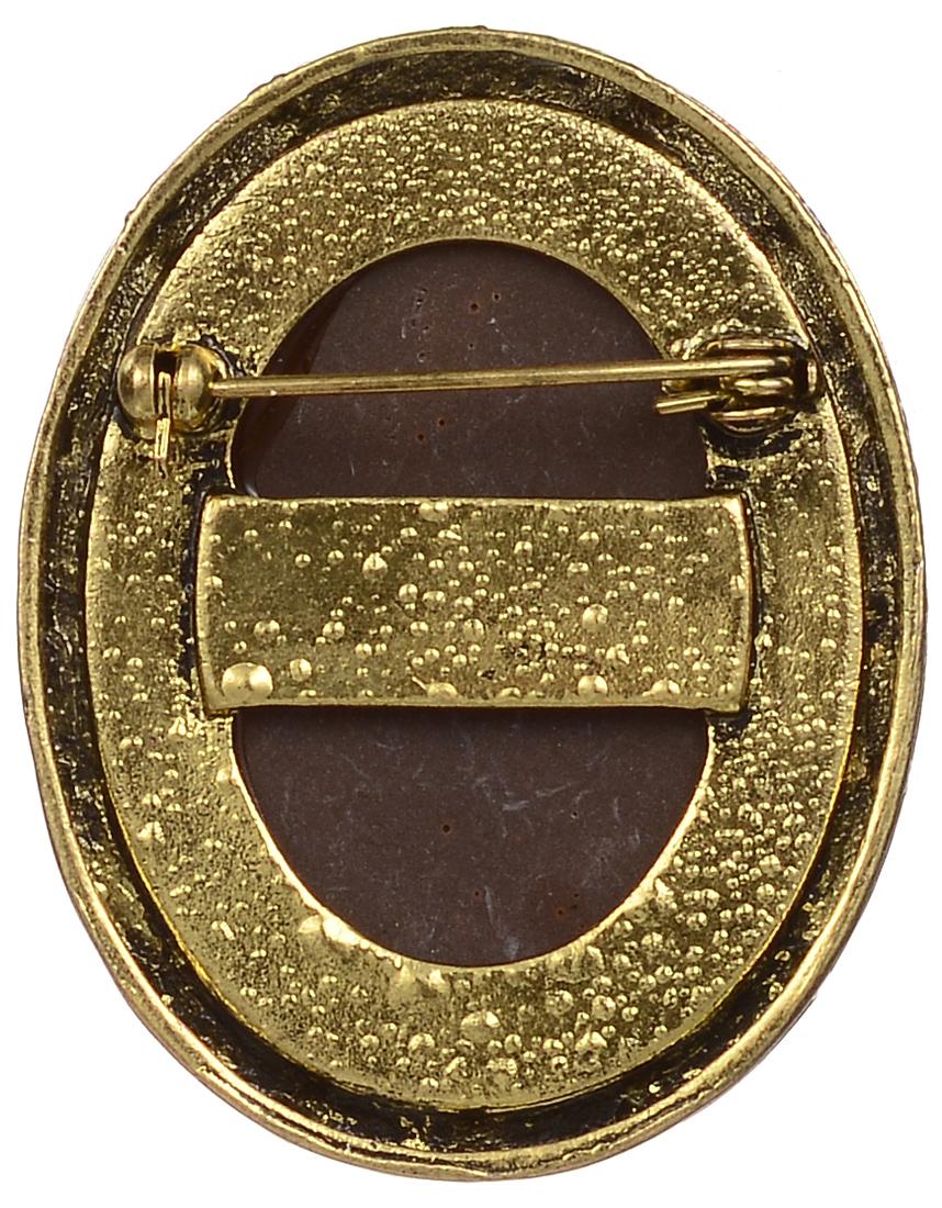 Брошь Fashion House, цвет: золотистый, бежевый. FH30239 ( FH30239 )