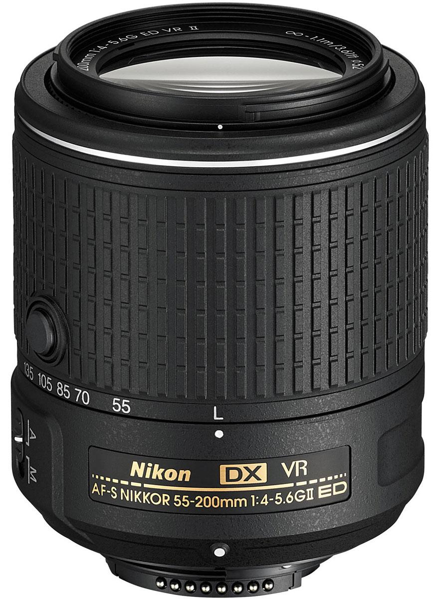 Nikon D5300 Kit 18-55 VR II + 55-200 VR II, Black цифровая зеркальная фотокамера