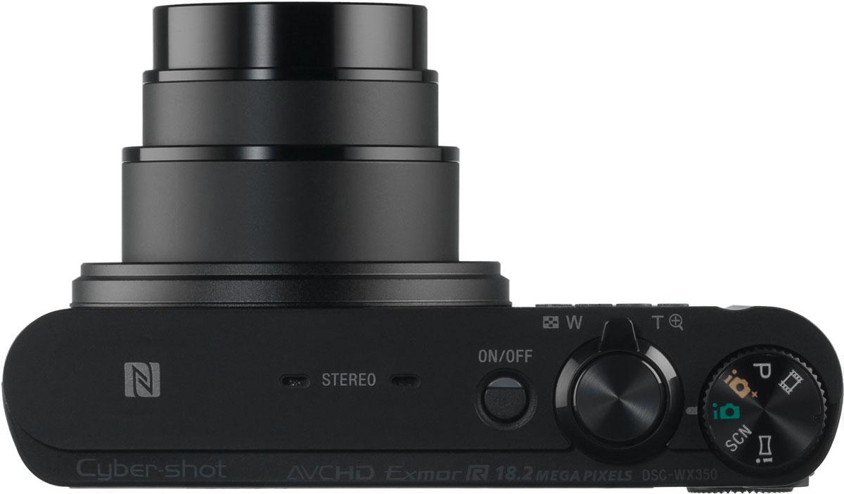 Sony Cyber-shot DSC-WX350, Black цифровая фотокамера