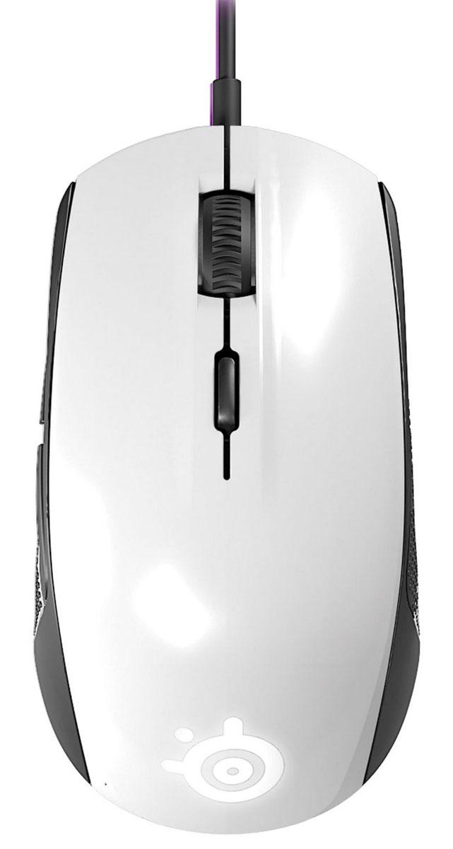 SteelSeries Rival 100, White игровая мышь ( 62335 )