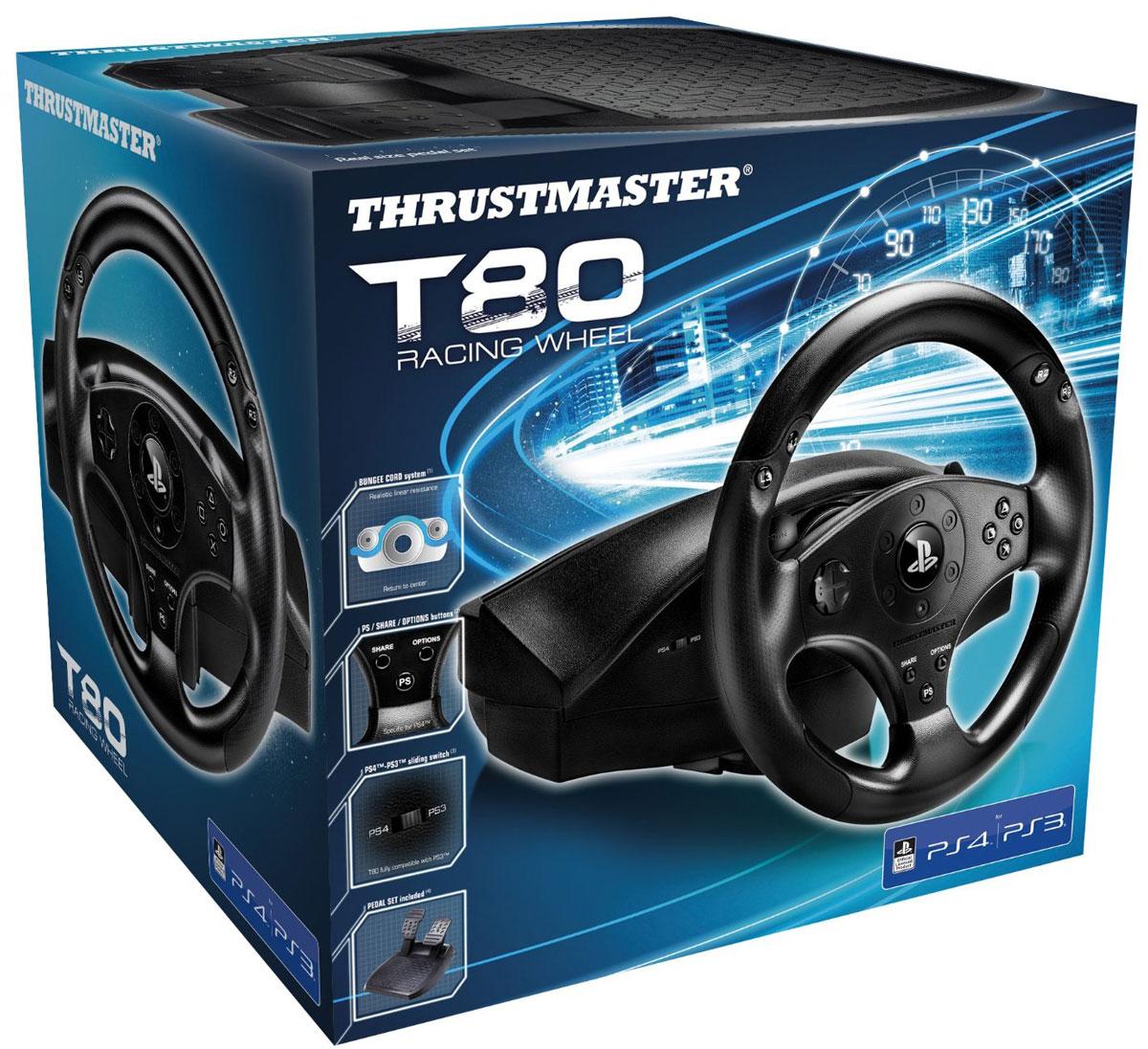 Thrustmaster T80 Racing wheel, Black руль
