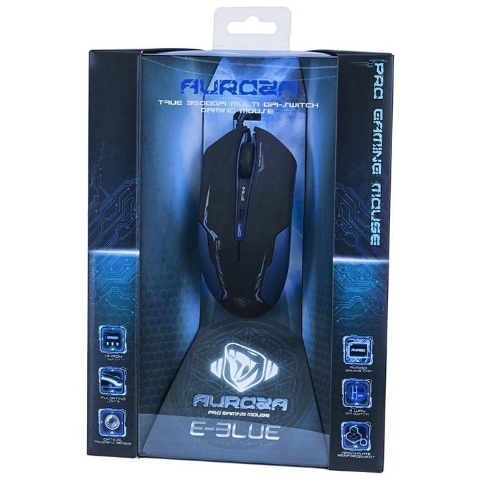 E-Blue EMS144 Auroza, Black игровая мышь