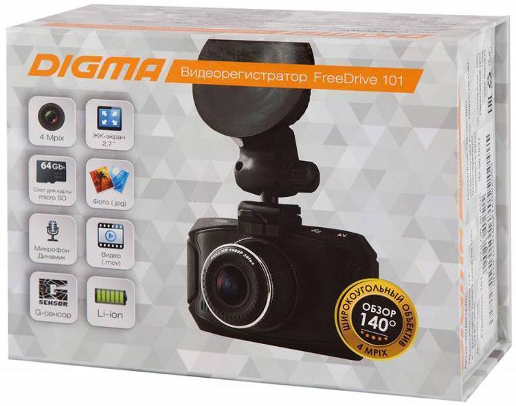 Digma FreeDrive 101 видеорегистратор