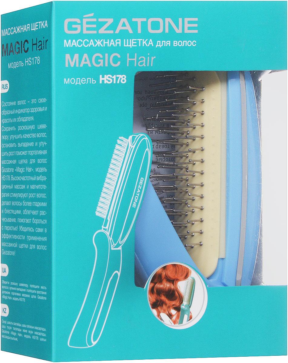 Gezatone HS178 Аппарат для массажа кожи головы, цвет: голубой