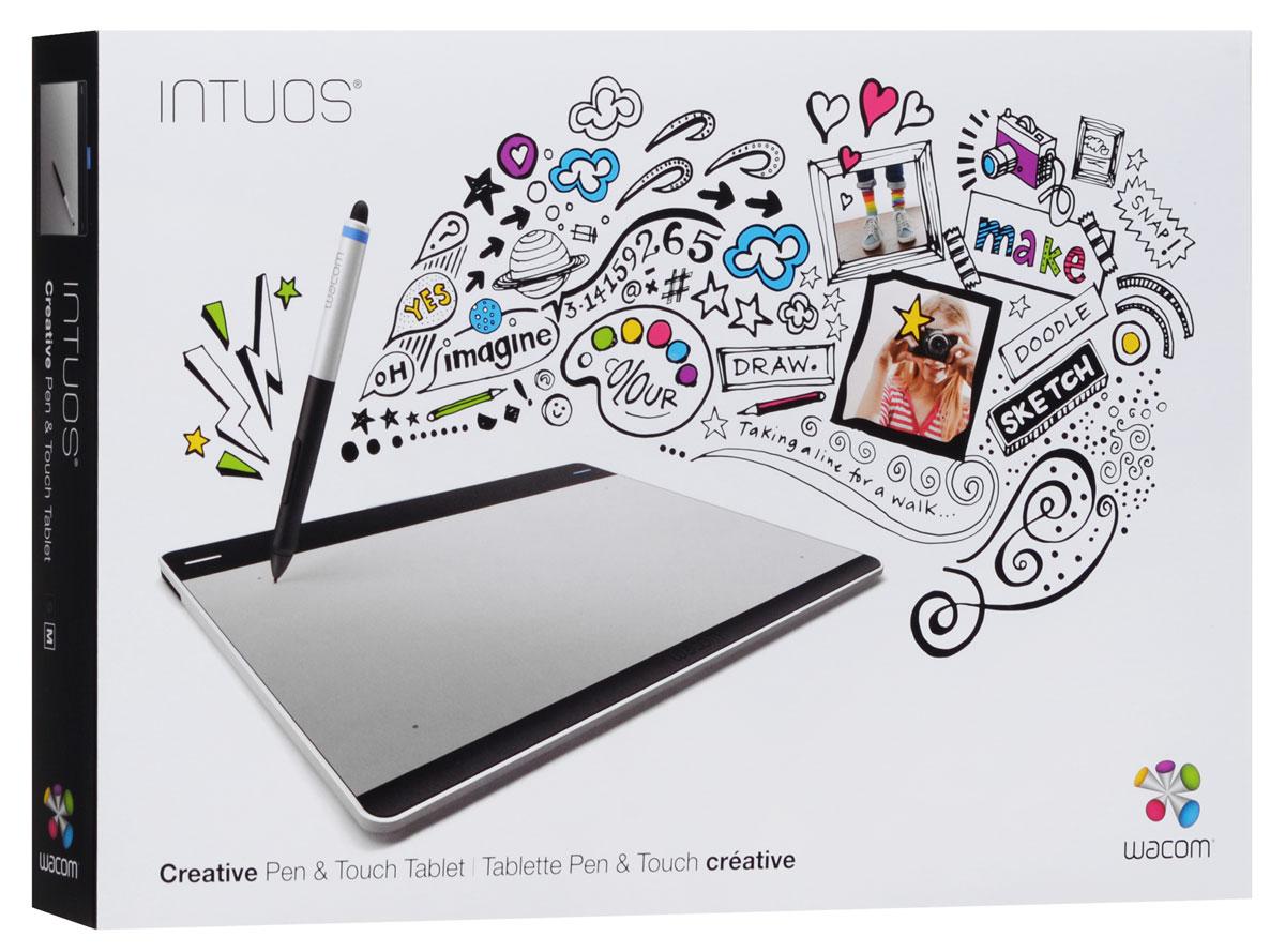 Wacom Intuos Pen&Touch Medium, Silver графический планшет (CTH-680S-S)