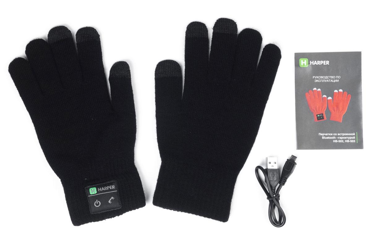 Harper HB-502, Black перчатки с Bluetooth-гарнитурой