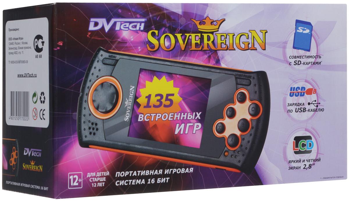 Портативная игровая система DVTech Sovereign 16 бит, черно-оранжевая