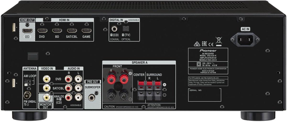 Pioneer VSX-430-K AV-ресивер