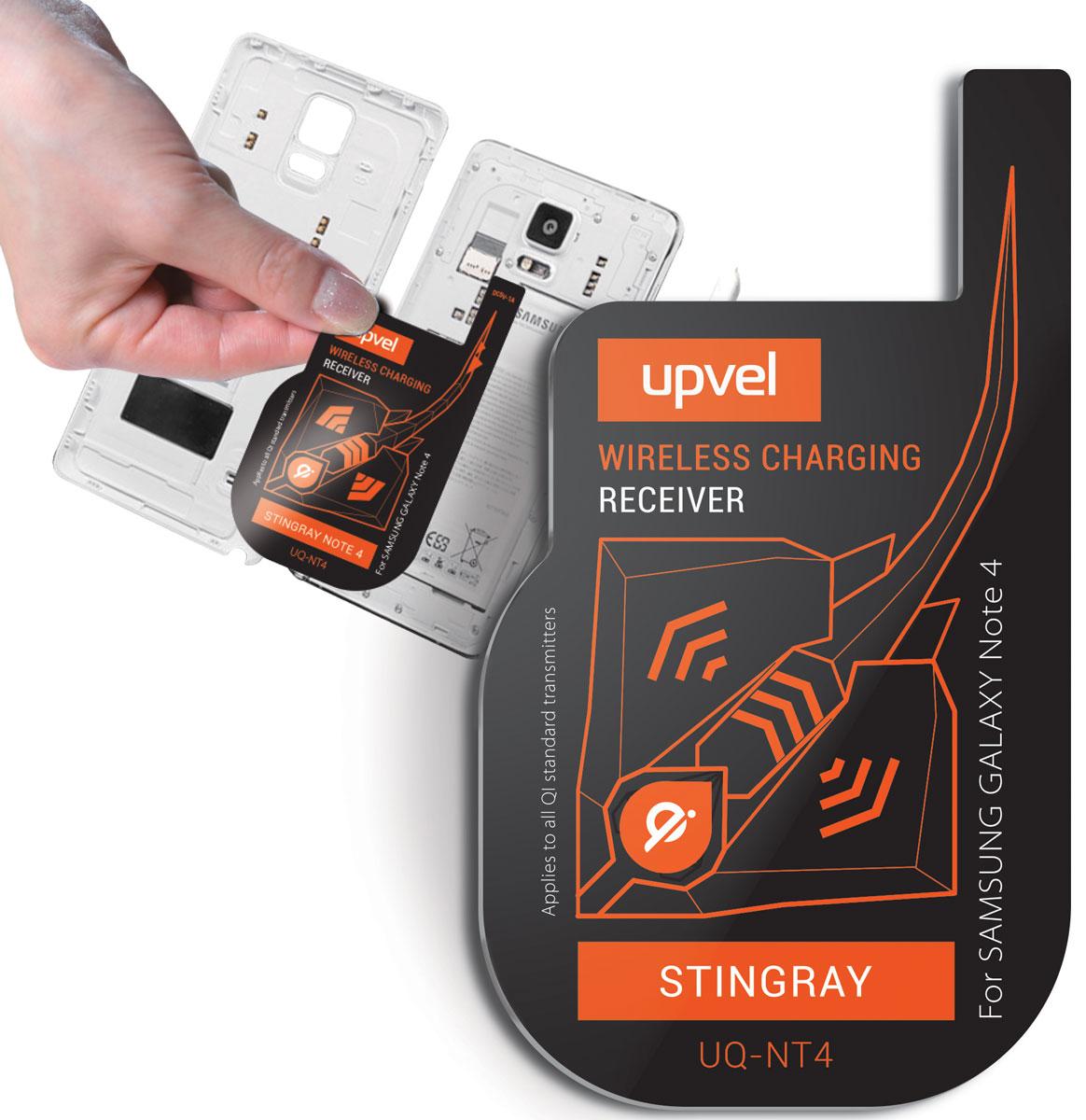 UPVEL UQ-NT4 Stingray для Samsung Galaxy Note 4, Black модуль-приемник беспроводной зарядки стандарта Qi