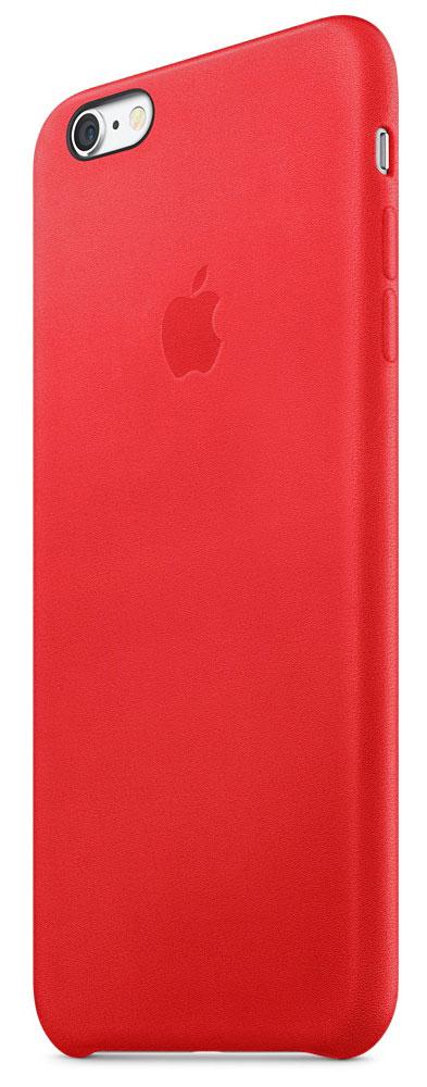 Apple Leather Case чехол для iPhone 6s Plus, Red