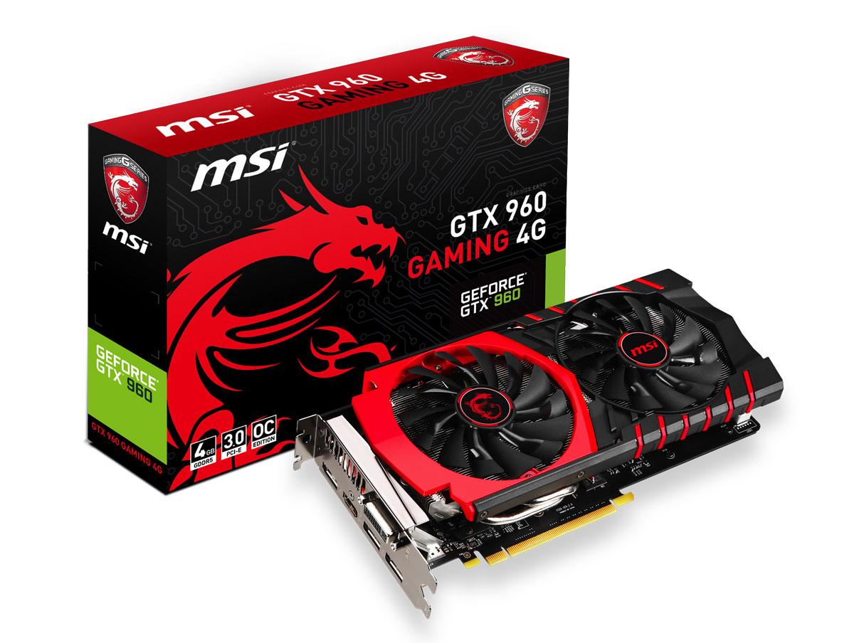 MSI GeForce GTX 960 Gaming 4G 4GB видеокарта