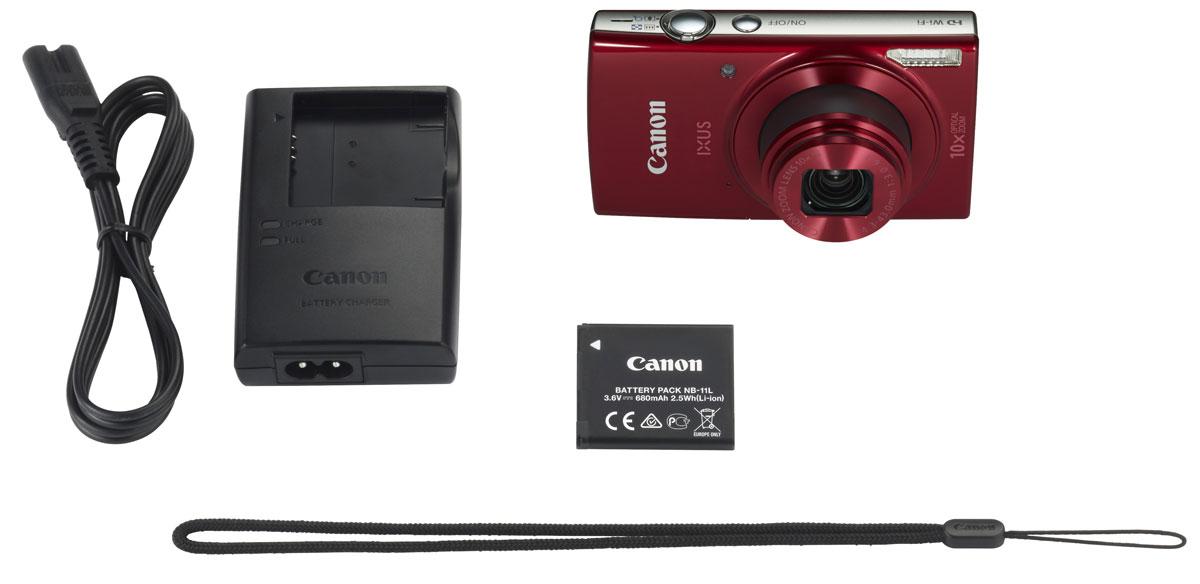 Canon IXUS 180, Red цифровая фотокамера