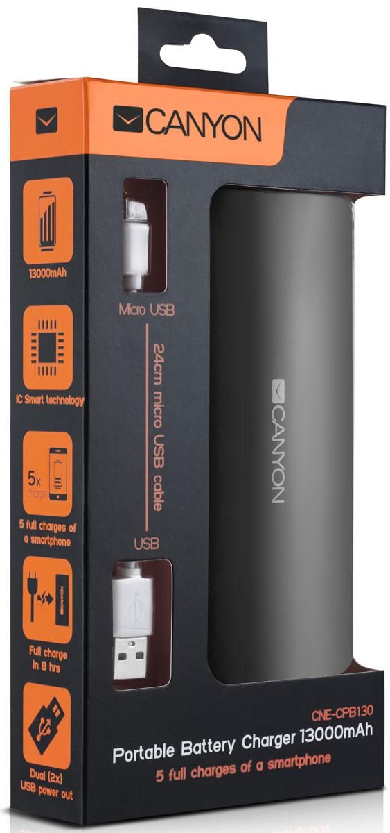 Canyon CNE-CPB130DG, Dark Grey внешний аккумулятор ( CNE-CPB130DG )