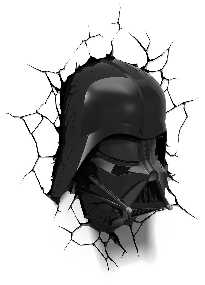 Star Wars Пробивной 3D светильник Маска Дарт Вейдер