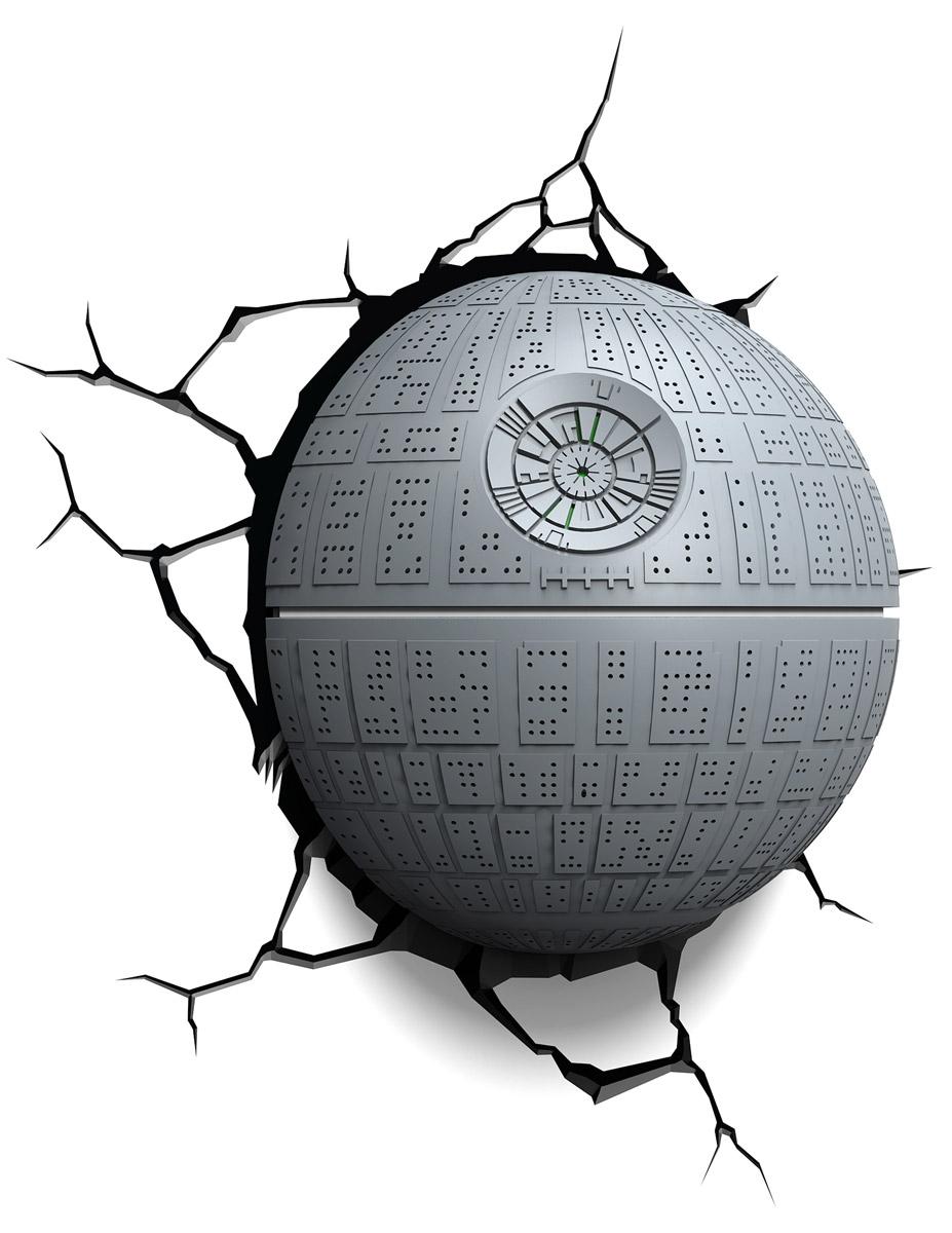 Star Wars Пробивной 3D светильник Звезда смерти