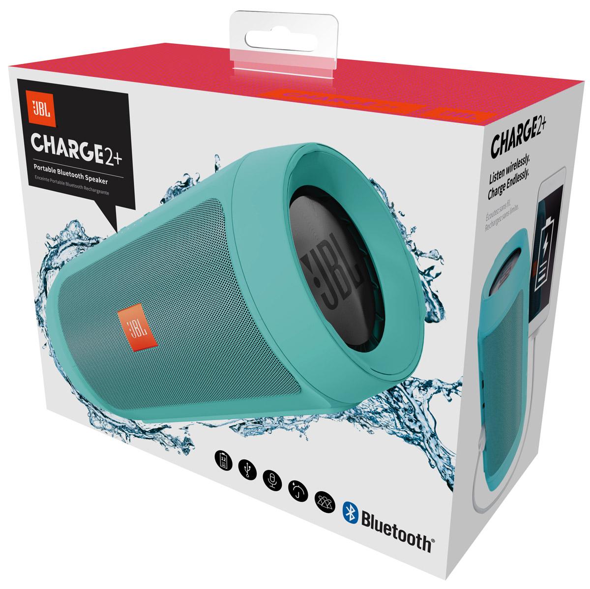 JBL Charge 2+, Teal портативная акустическая система