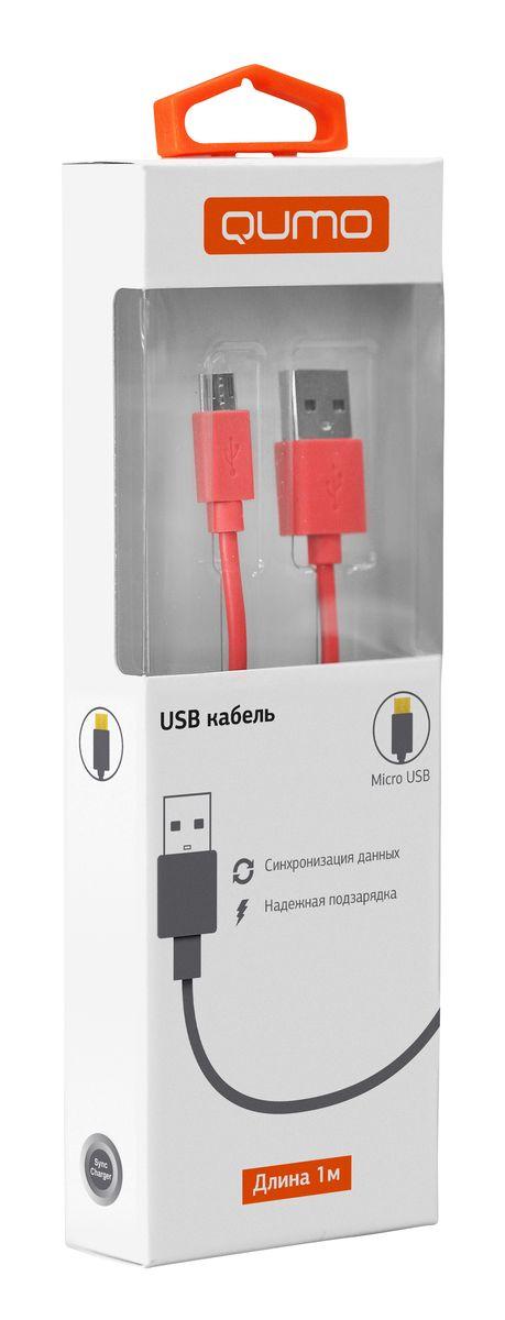 QUMO ������ microUSB-USB �������, Red (1 �)