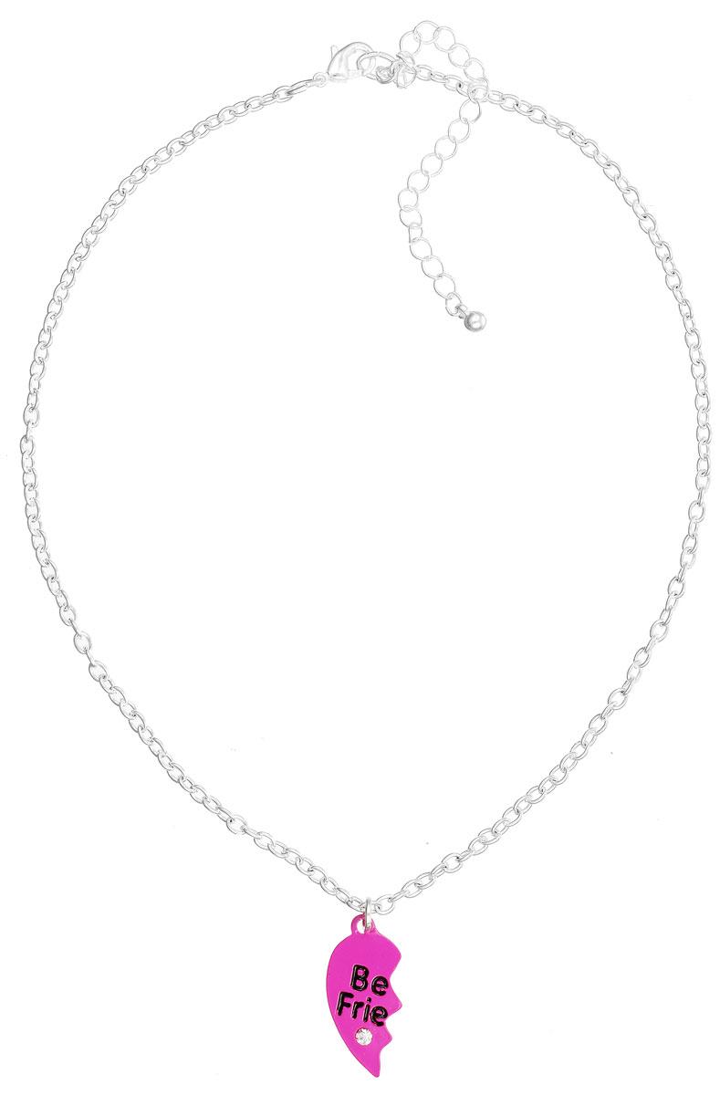 Колье для девочки Sela, цвет: фуксия, серебряный, 2 шт. Ank-647/299-6103 ( Ank-647/299-6103 колье )