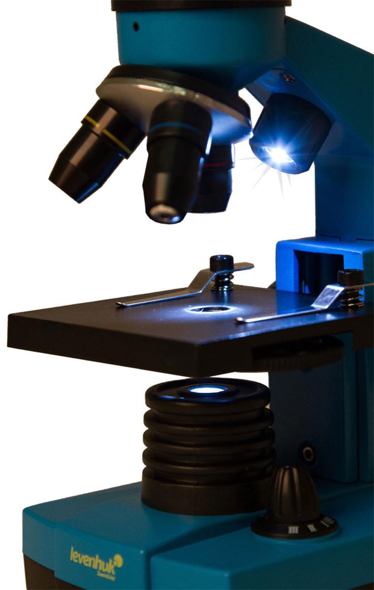 Levenhuk Rainbow 2L Azure микроскоп ( XSP-1406 plastic Pantone #313C )