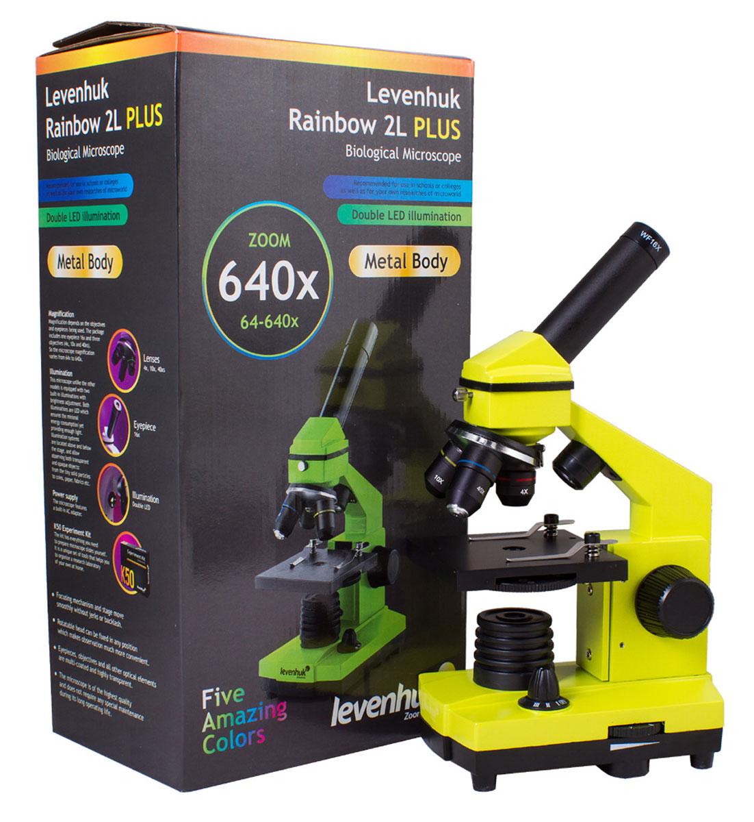 Levenhuk Rainbow 2L Plus, Lime микроскоп