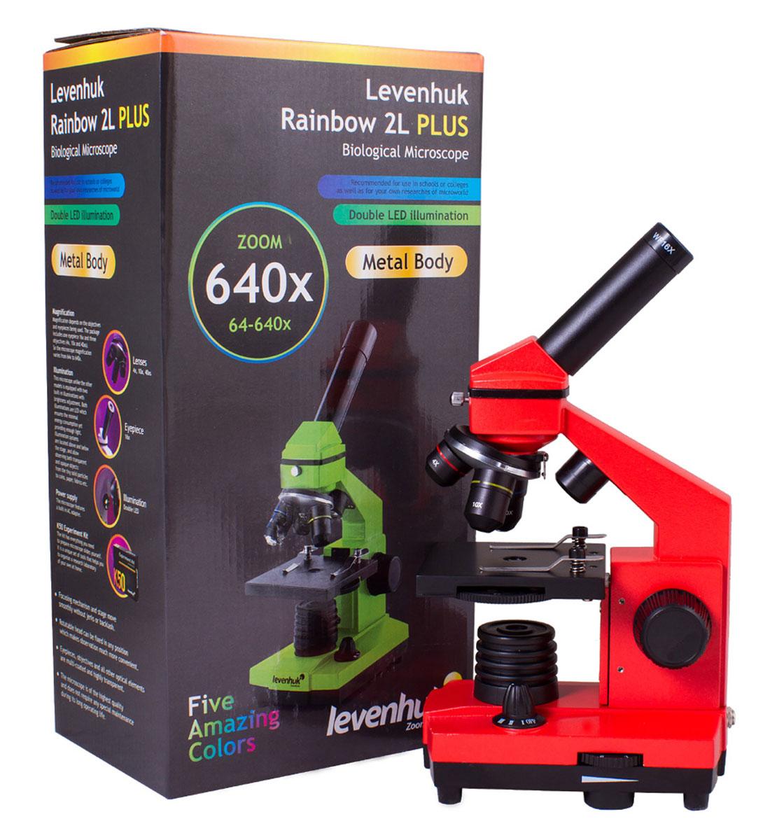 Levenhuk Rainbow 2L Plus, Orange микроскоп