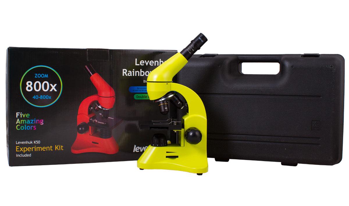 Levenhuk Rainbow 50L, Lime микроскоп