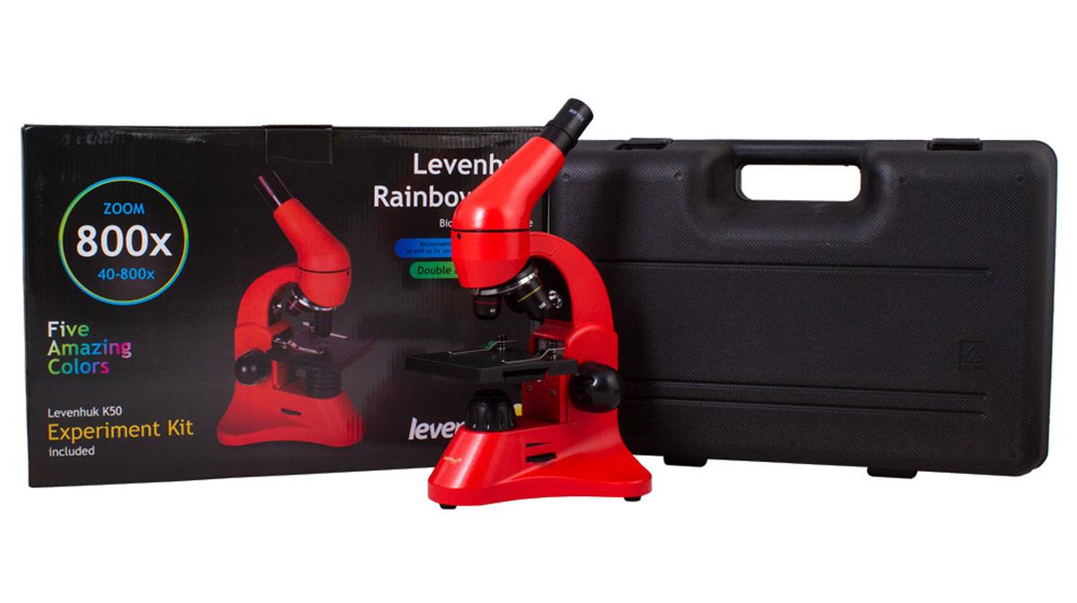 Levenhuk Rainbow 50L, Orange микроскоп