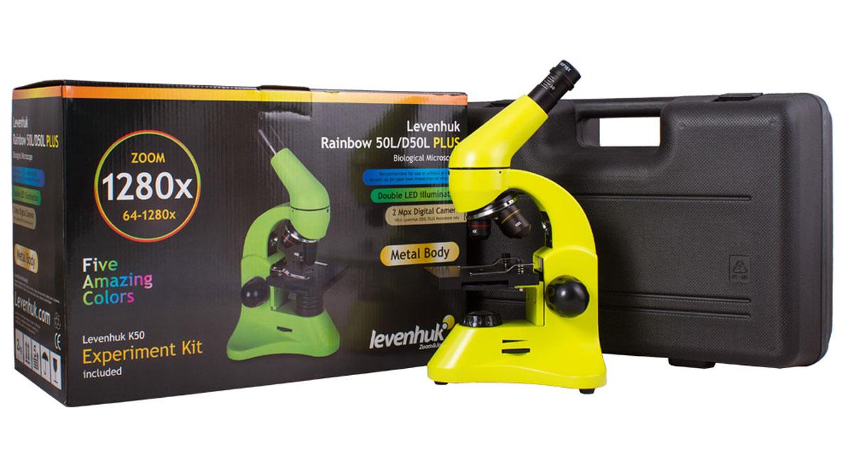 Levenhuk Rainbow 50L Plus, Lime микроскоп