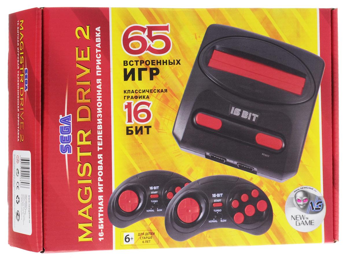 Sega Magistr Drive 2 игровая приставка (65 игр) ( 4601250206806 )