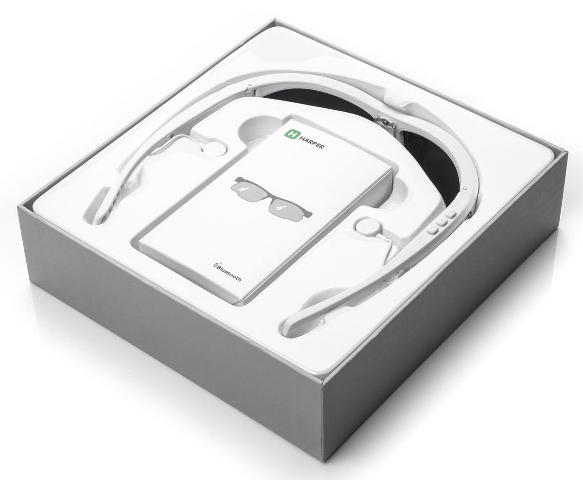 Harper HB-600, White очки с Bluetooth-гарнитурой