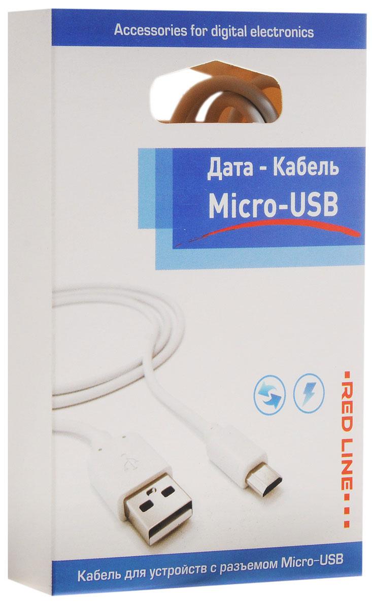 Red Line дата-кабель USB-micro USB, White