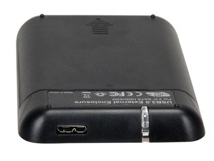"Корпус для жесткого диска AgeStar 31UB2A8C SATA 2.5"", Black Aluminium ( 31UB2A8C(BLACK) )"