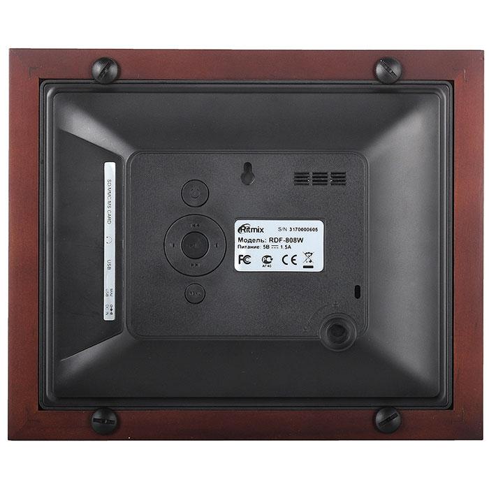 Ritmix RDF-808W, Black Brown цифровая фоторамка