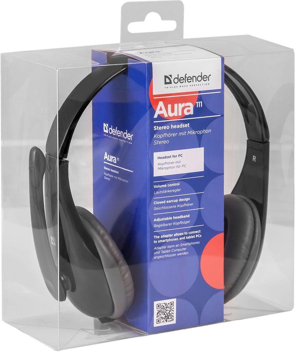 Defender Aura 111, Black компьютерная гарнитура