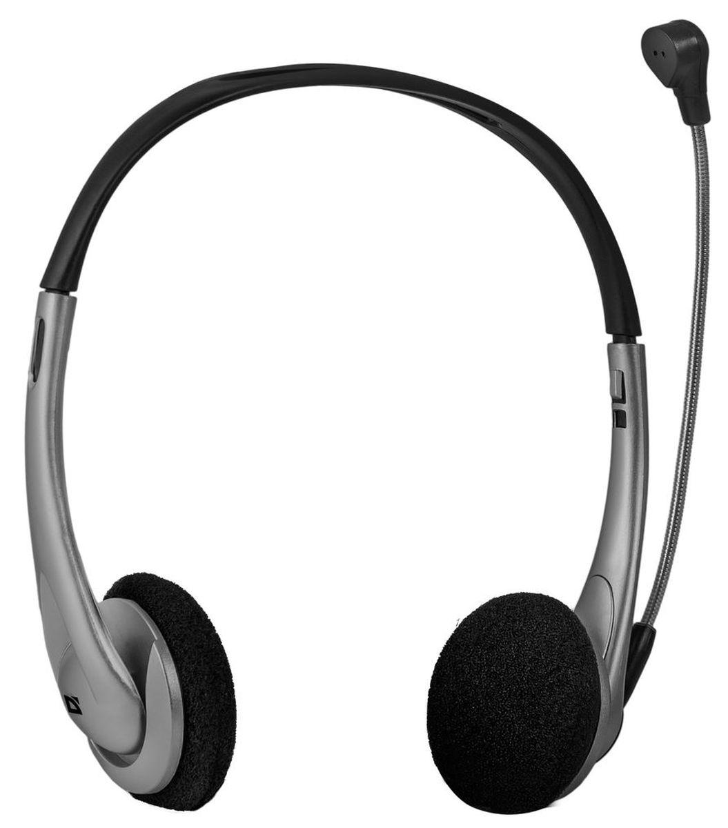 Defender Aura 114, Black Gray компьютерная гарнитура ( 63114 )