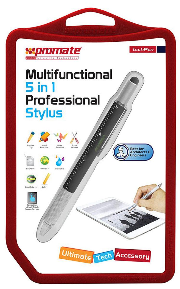 Promate TechPen, Black ручка-стилус для мобильного телефона