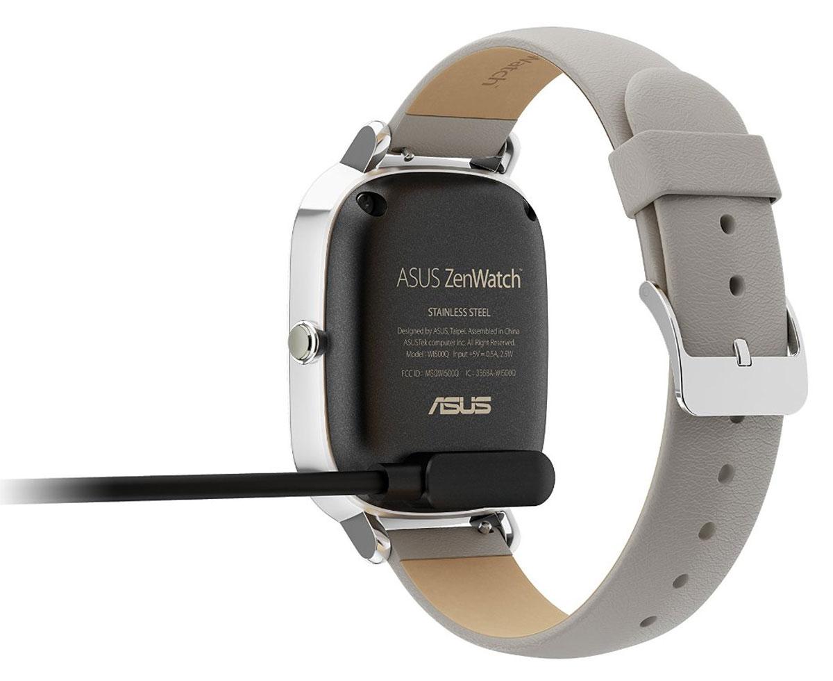 Asus ZenWatch 2 WI502Q(BQC), Silver Khaki смарт-часы