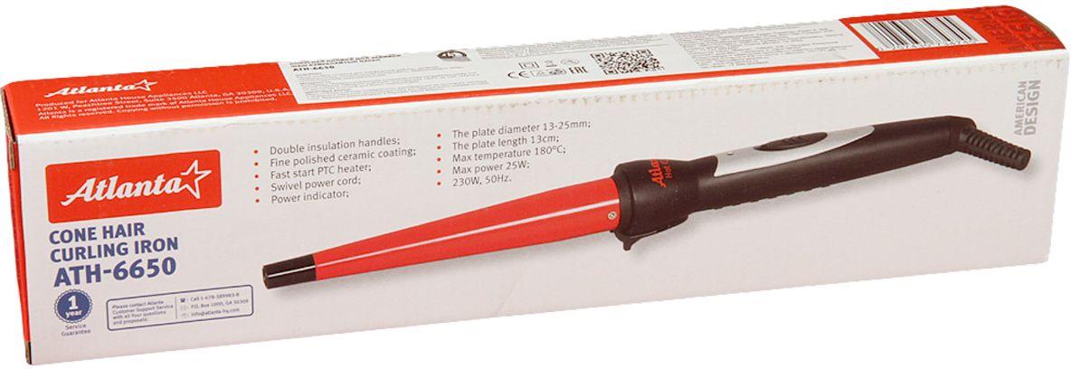 Atlanta ATH-6650, Red электрощипцы для укладки волос