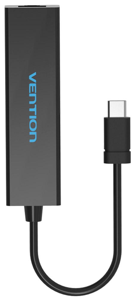 Vention VAS-J39-N сетевой адаптер + USB-хаб, Black