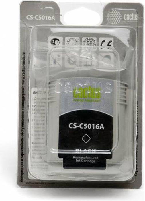 Cactus CS-C5016A №84, Black картридж струйный для HP DJ 10PS/20PS/30GP/50PS/90/120/130DE