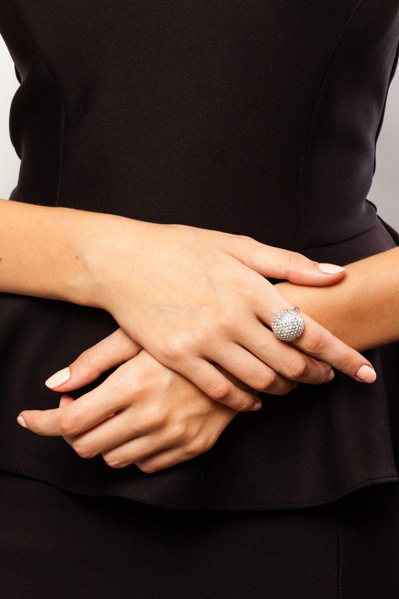 """Кольцо Jenavi """"Мириада"""", цвет: серебристый. r634f000. Размер 19"""